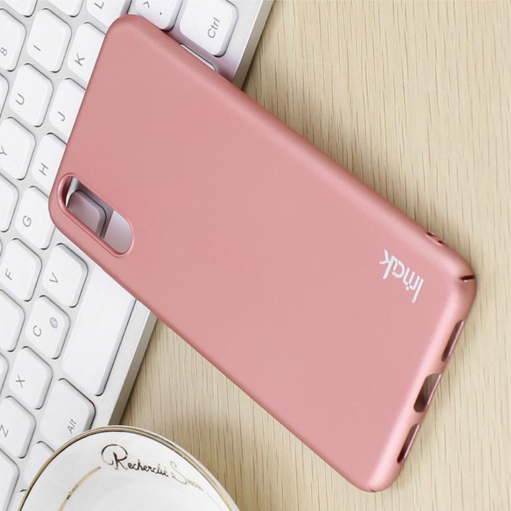 Пластиковый матовый кейс футляр IMAK Jazz чехол для Huawei P20 Розовое Золото + Защитная пленка