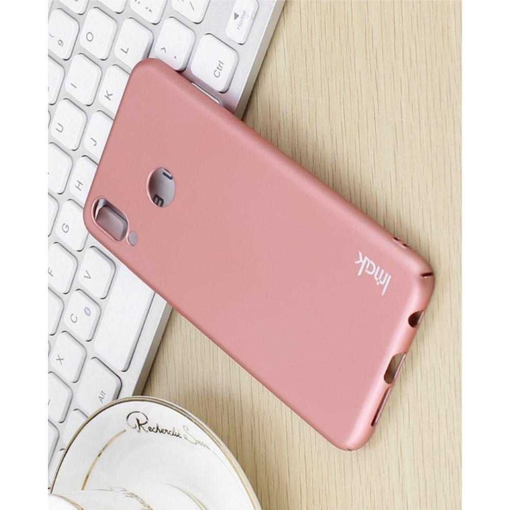 Пластиковый матовый кейс футляр IMAK Jazz чехол для Huawei P20 lite Розовое Золото + Защитная пленка