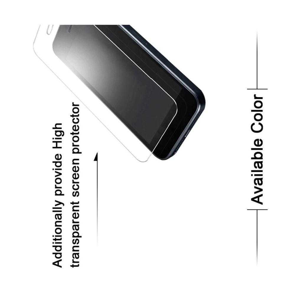 Пластиковый матовый кейс футляр IMAK Jazz чехол для Huawei P20 lite Черный + Защитная пленка