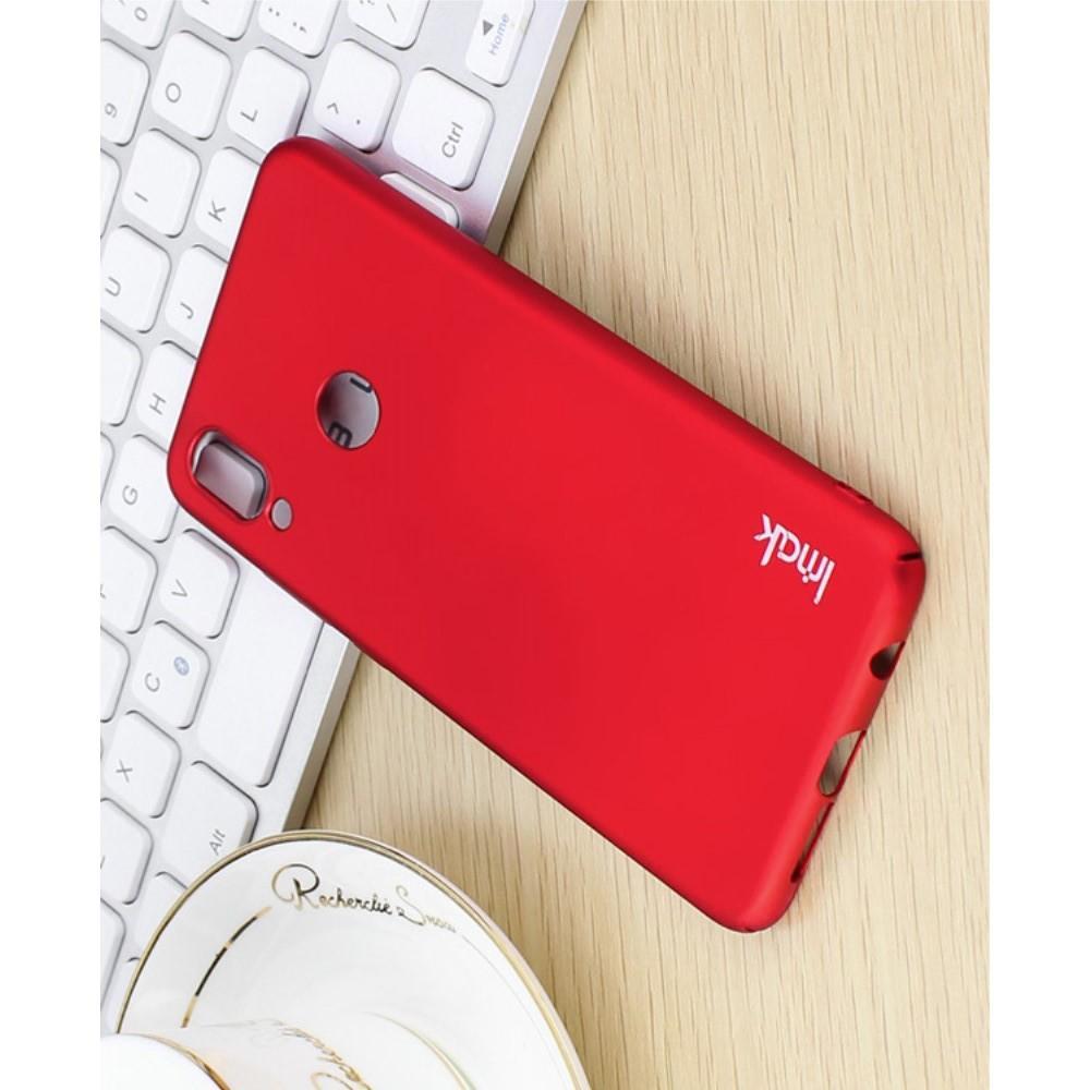 Пластиковый матовый кейс футляр IMAK Jazz чехол для Huawei P20 lite Красный + Защитная пленка