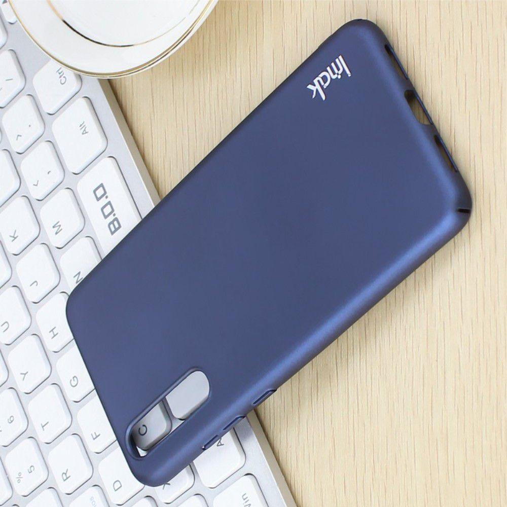 Пластиковый матовый кейс футляр IMAK Jazz чехол для Huawei P20 Pro Синий + Защитная пленка