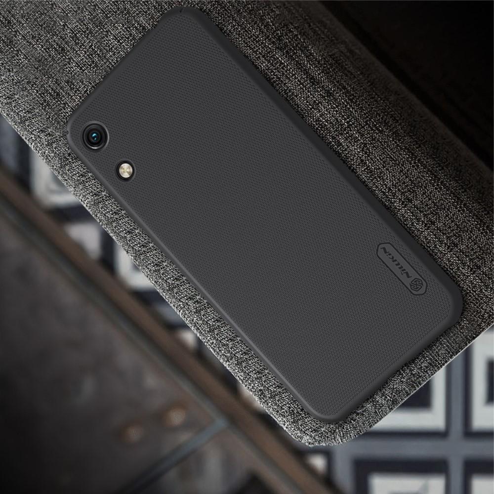 Пластиковый нескользящий NILLKIN Frosted кейс чехол для Huawei Honor 8A Черный + подставка