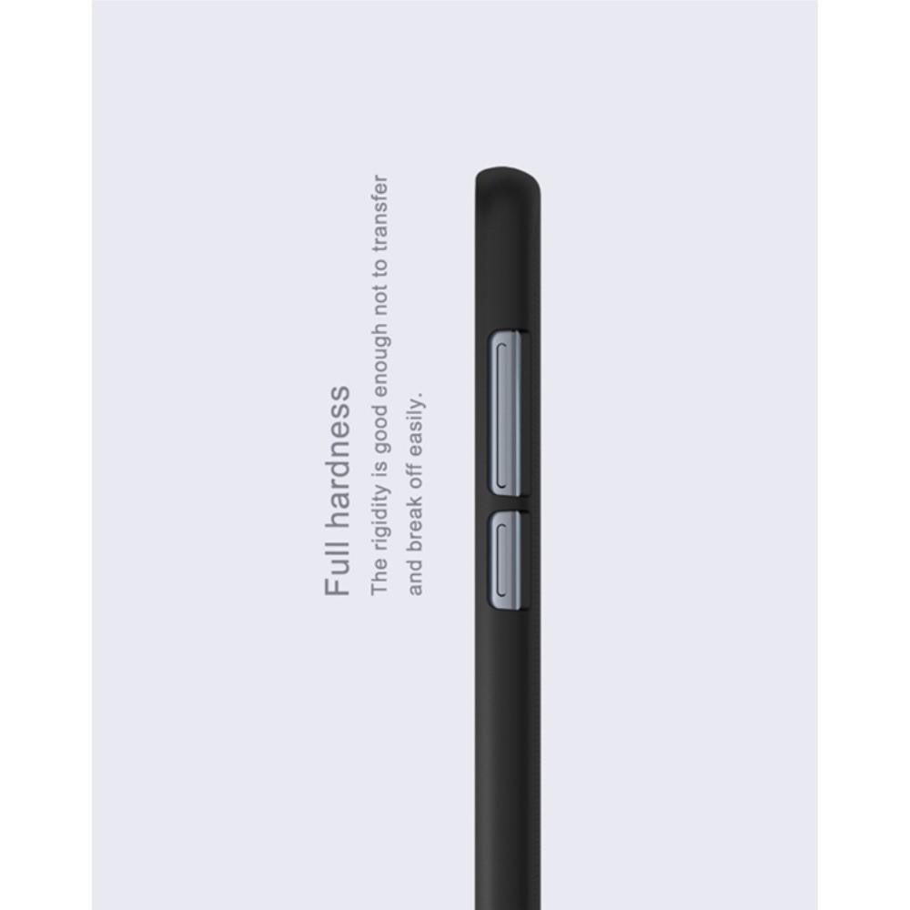 Пластиковый нескользящий NILLKIN Frosted кейс чехол для Huawei Honor 9 Черный + подставка