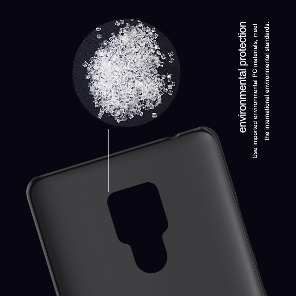 Пластиковый нескользящий NILLKIN Frosted кейс чехол для Huawei Mate 20 X Черный + защитная пленка