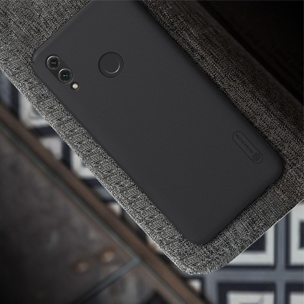 Пластиковый нескользящий NILLKIN Frosted кейс чехол для Huawei P Smart 2019 Черный + защитная пленка