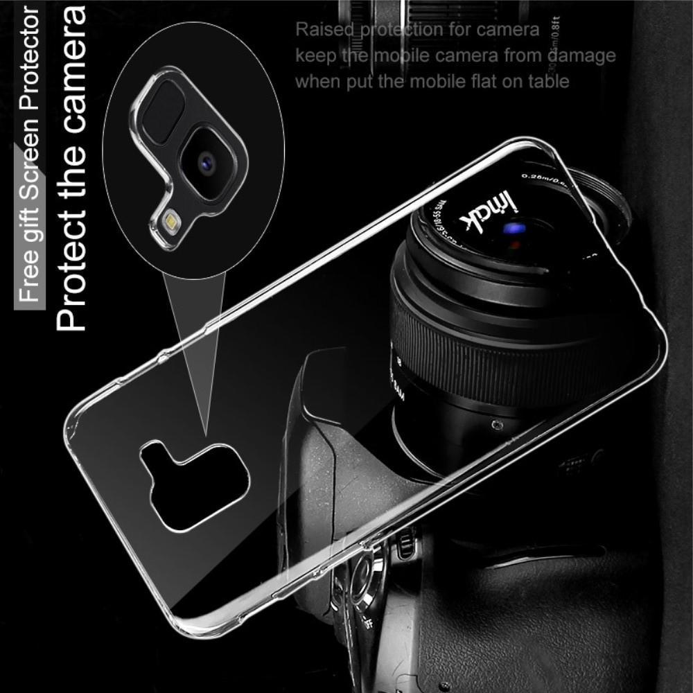 Пластиковый Жесткий Прозрачный Корпус IMAK Чехол для Samsung Galaxy J6 SM-J600