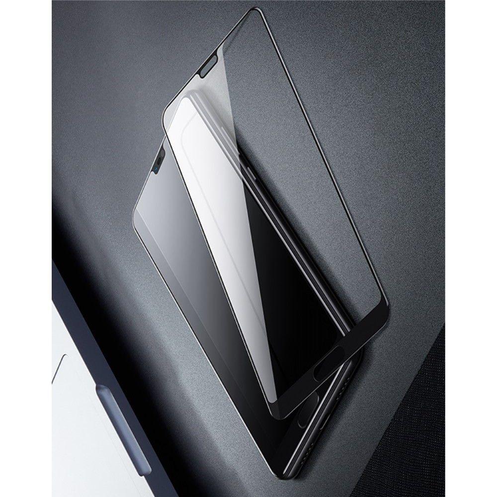 Полноэкранное Закаленное Олеофобное DF Full Screen Защитное Стекло Черное для Huawei P20 Pro