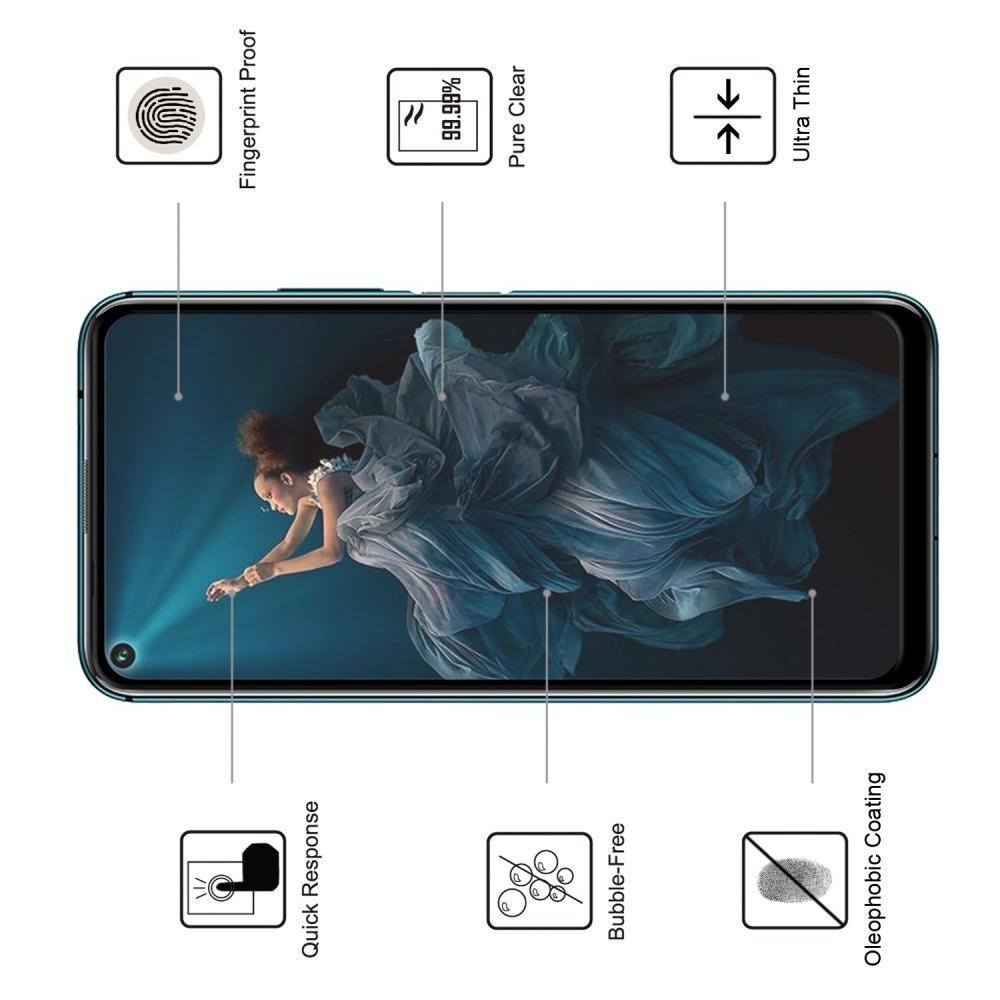 Полноэкранное Закаленное Олеофобное DF Full Screen Защитное Стекло Черное для Huawei Honor 20