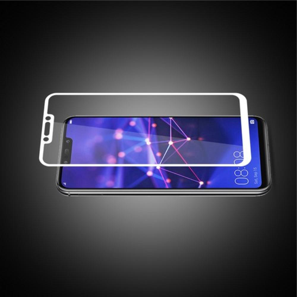 Полноэкранное Закаленное Олеофобное DF Full Screen Защитное Стекло Белое для Huawei Mate 20 Lite
