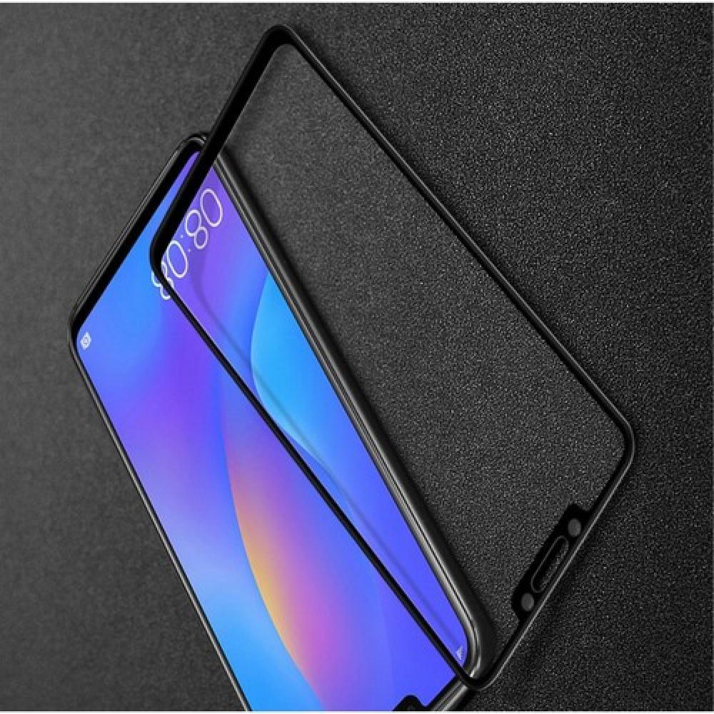 Полноэкранное Закаленное Олеофобное DF Full Screen Защитное Стекло Черное для Huawei P smart+ / Nova 3i