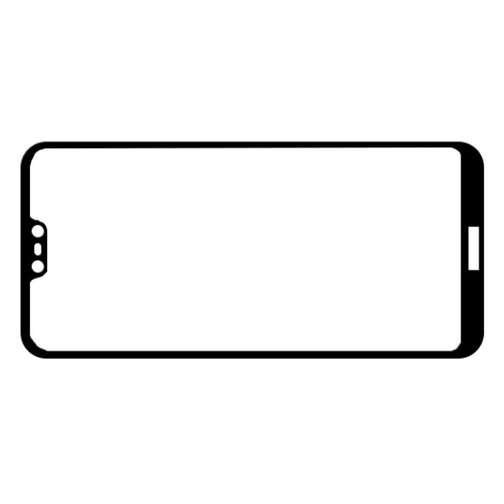 Полноэкранное Закаленное Олеофобное DF Full Screen Защитное Стекло Черное для  Huawei P20 lite