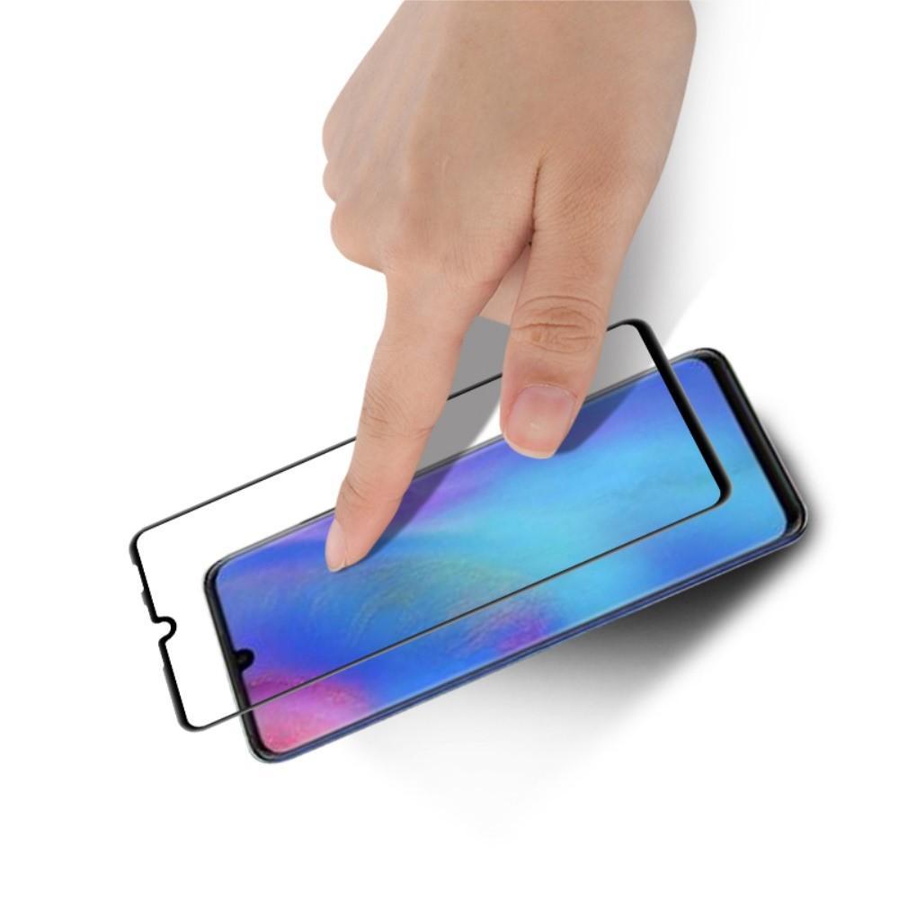 Полноэкранное Закаленное Олеофобное DF Full Screen Защитное Стекло Черное для Huawei P30 Lite