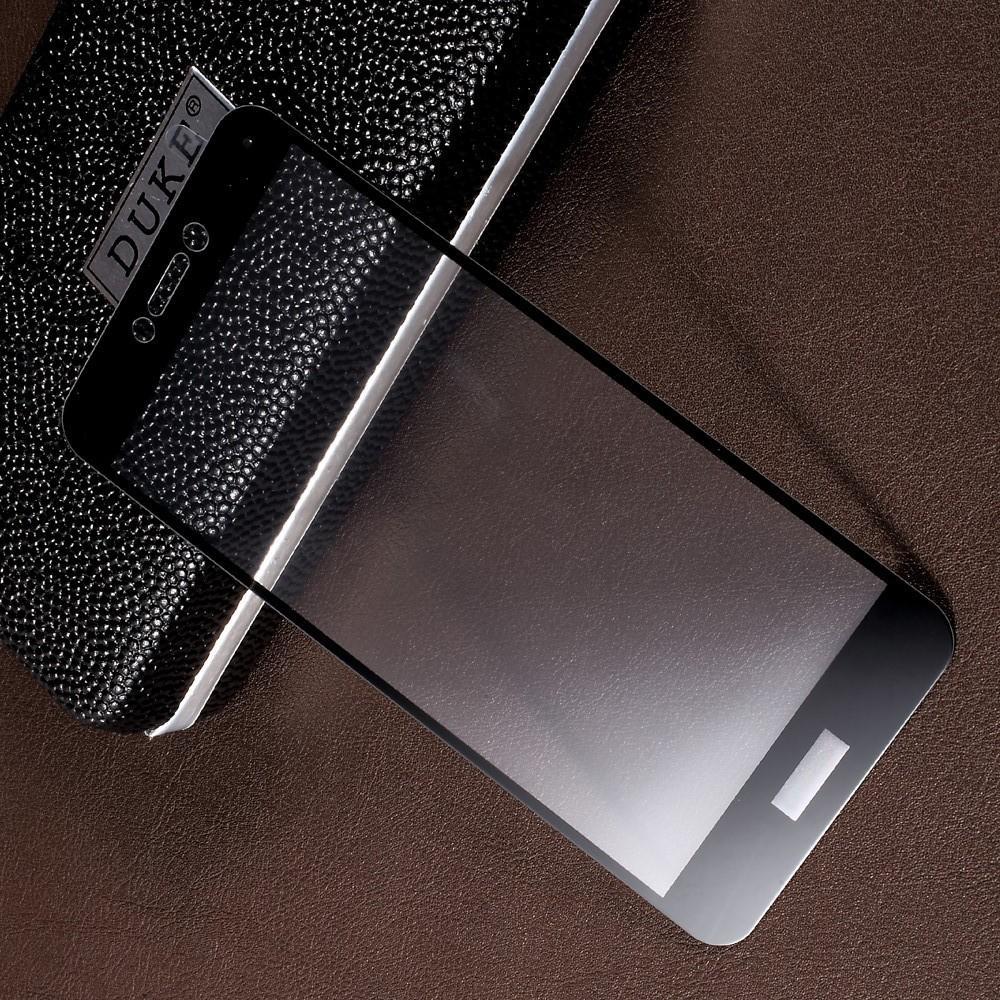 Полноэкранное Закаленное Олеофобное DF Full Screen Защитное Стекло Черное для Huawei P8 Lite (2017) / Honor 8 Lite