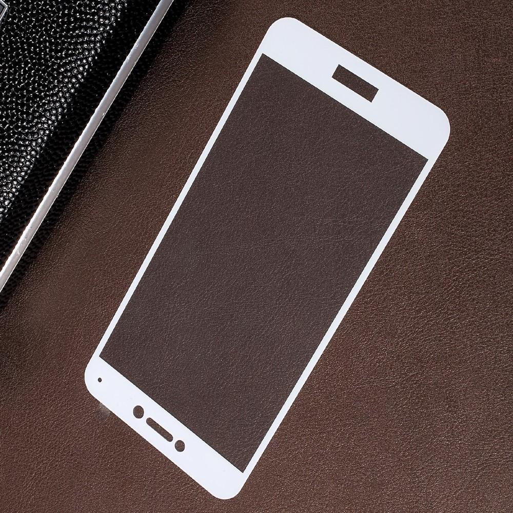 Полноэкранное Закаленное Олеофобное DF Full Screen Защитное Стекло Белое для Huawei P8 Lite (2017) / Honor 8 Lite