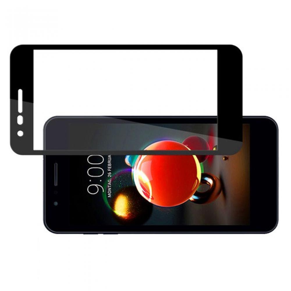 Полноэкранное Закаленное Олеофобное DF Full Screen Защитное Стекло Черное для LG K11