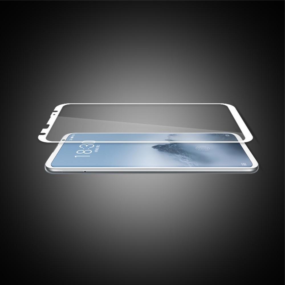 Полноэкранное Закаленное Олеофобное DF Full Screen Защитное Стекло Белое для Meizu 16