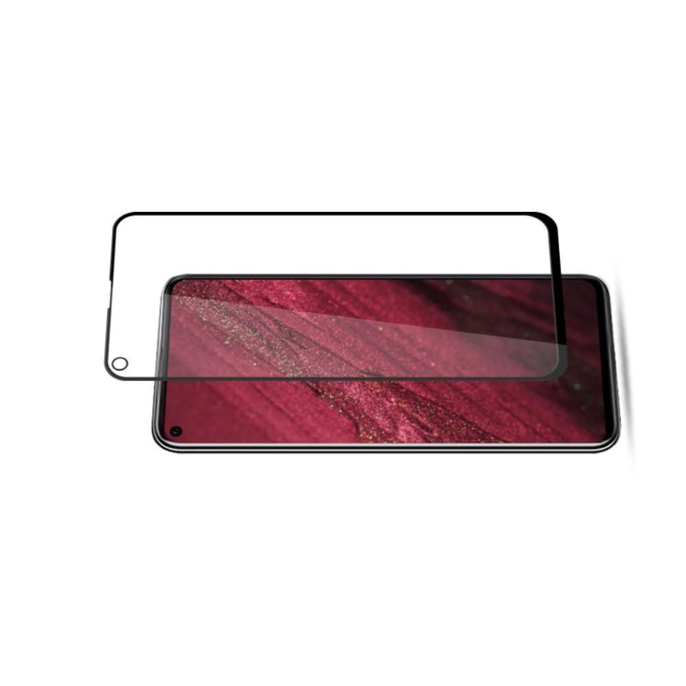 Полноклеевое Full Glue Cover 3D Red Line Черное Защитное Стекло на Экран Huawei Nova 4