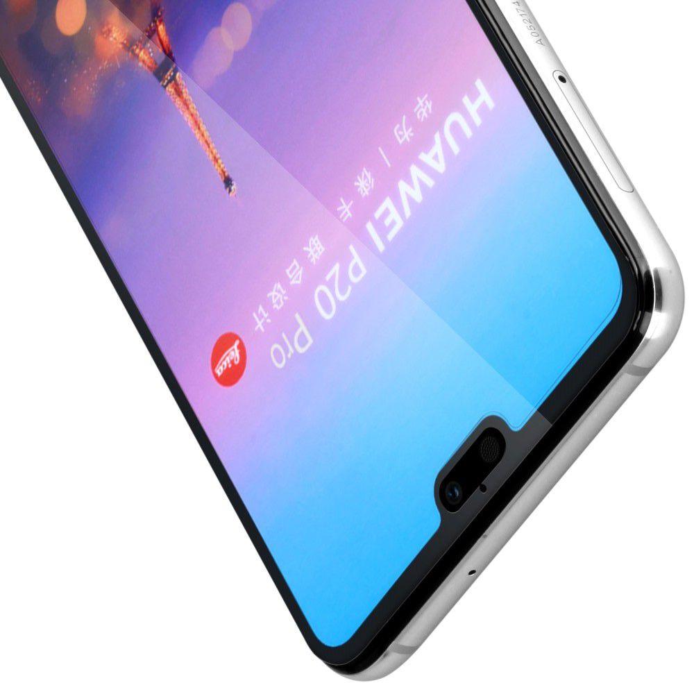 Полноклеевое Full Glue Cover 3D Red Line Черное Защитное Стекло на Экран Huawei P20 Pro