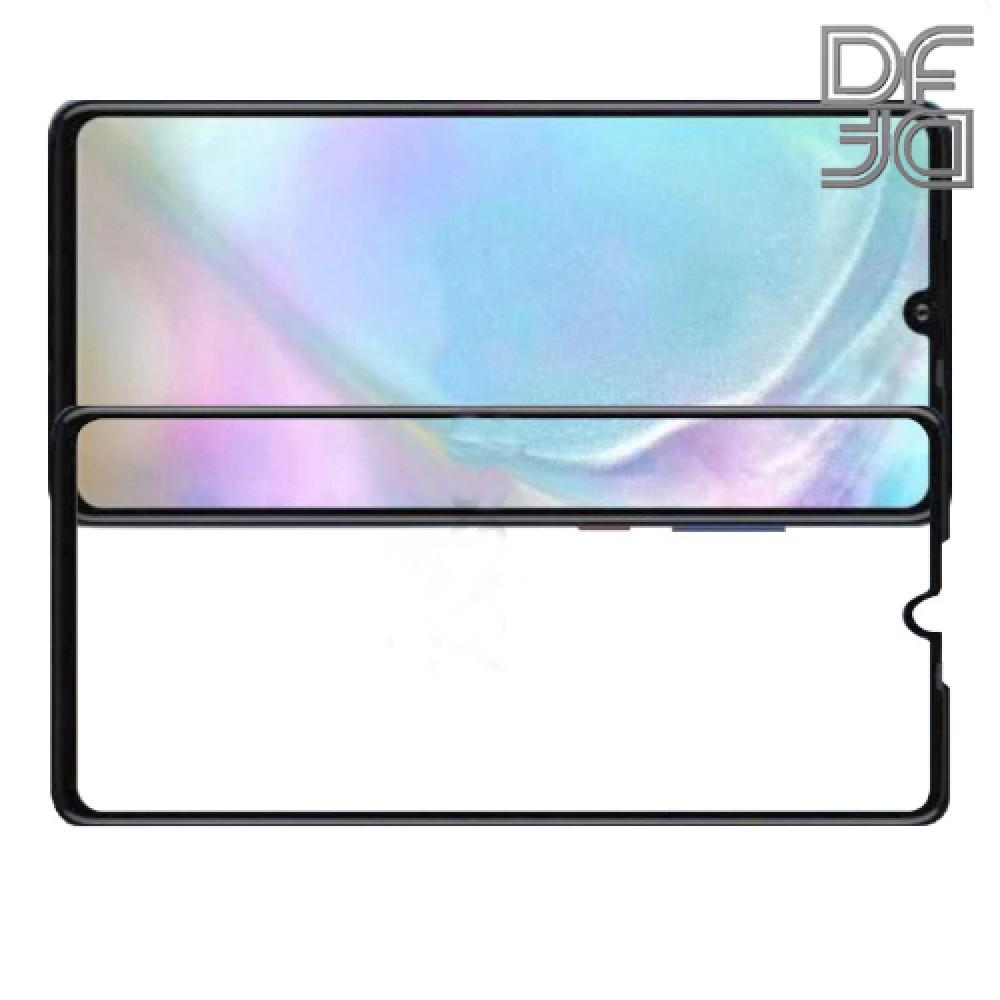Полноклеевое Full Glue Cover DF Черное Защитное Стекло на Экран Huawei P30