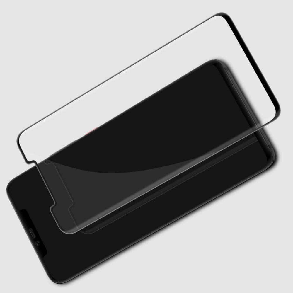 Полноразмерное Изогнутое Закаленное NILLKIN 3D CP+ Черное Стекло для Huawei Mate 20 Pro