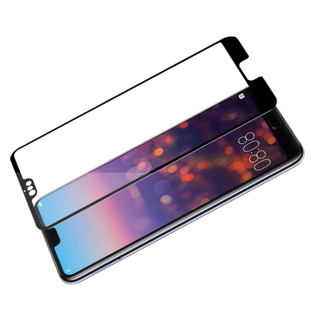 Полноразмерное Изогнутое Закаленное NILLKIN 3D CP+ Черное Стекло для Huawei P20 Pro