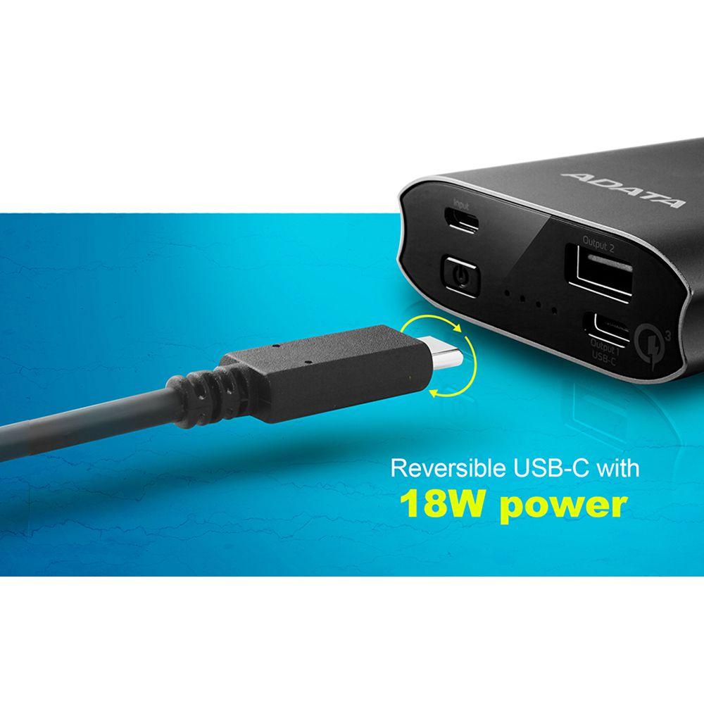 Портативный аккумулятор Type-C PD с быстрой зарядкой QC3.0 10050mAh 18W