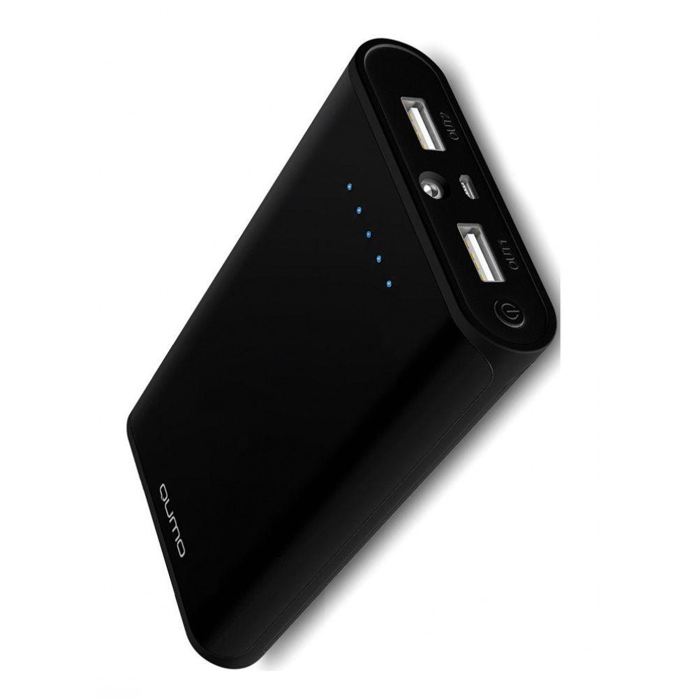 Портативный внешний аккумулятор для телефона 10400 mAh с 2 USB Qumo
