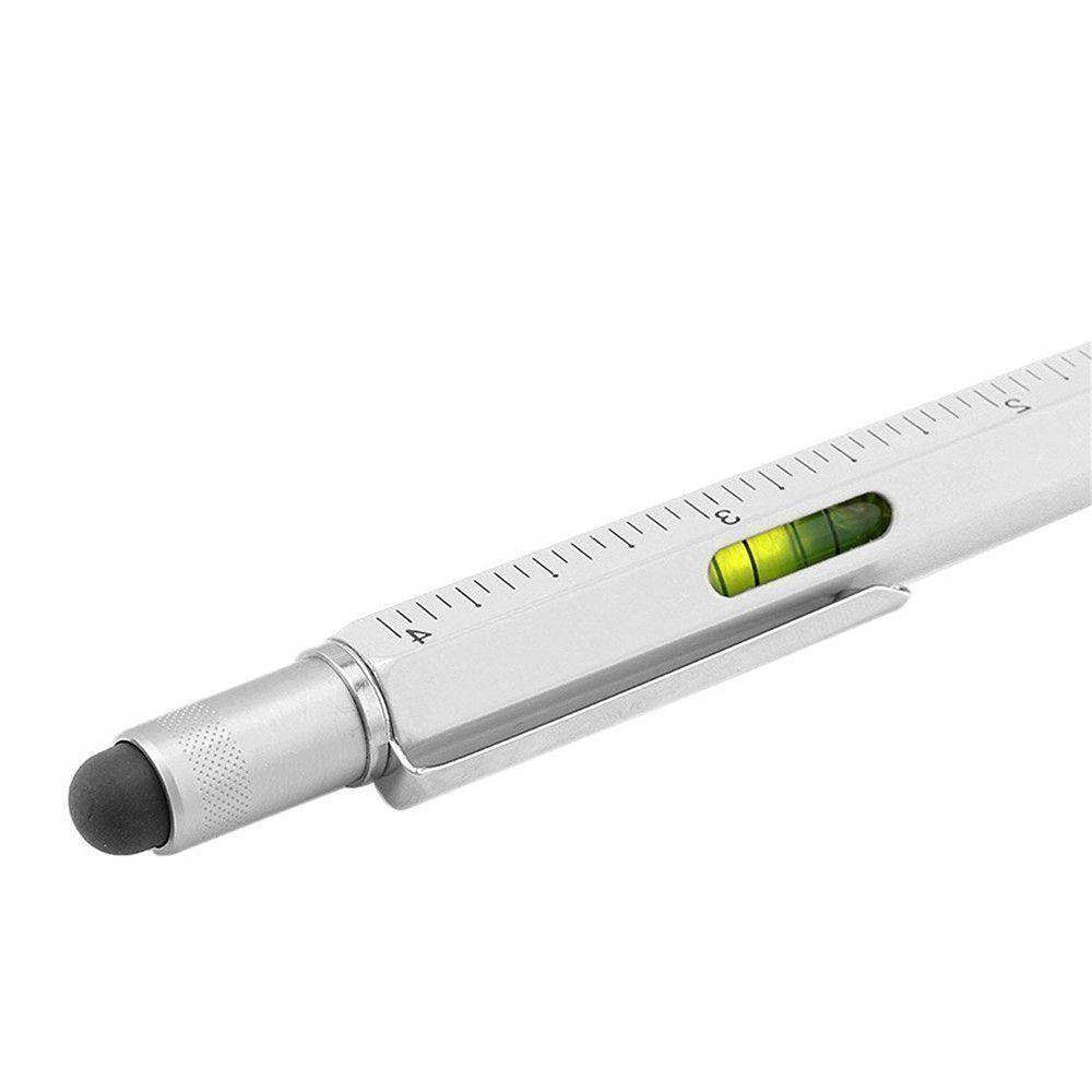 Ручка стилус 6-в-1 Линейка отвертка уровень