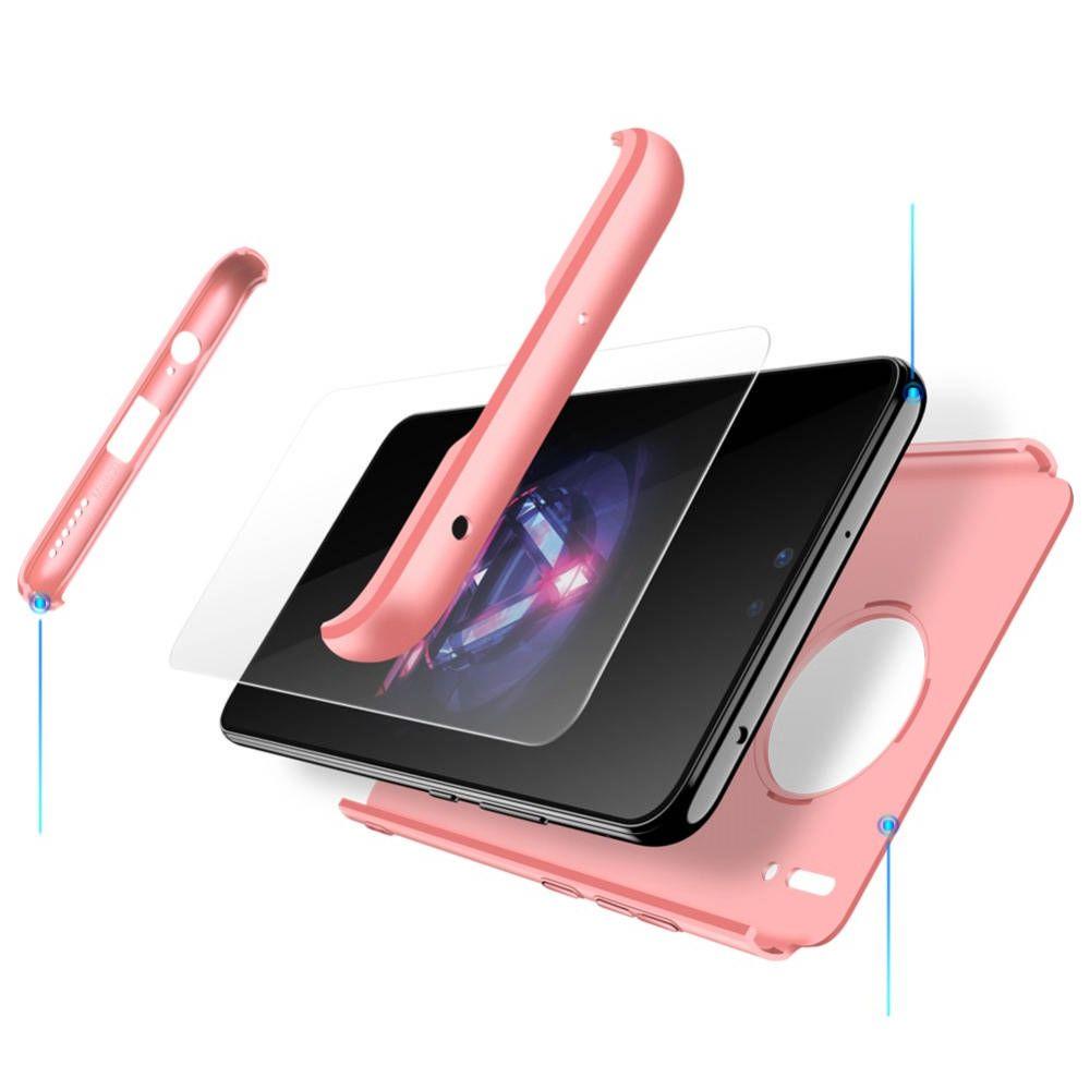 Съемный 360 GKK Матовый Жесткий Пластиковый Чехол для Huawei Mate 30 Розовый