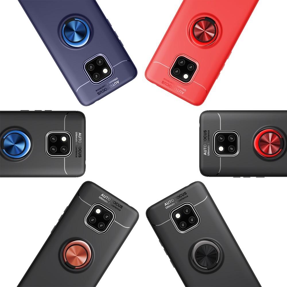 Силиконовый Чехол для Магнитного Держателя с Кольцом для Пальца Подставкой для Huawei Mate 20 Pro Красный