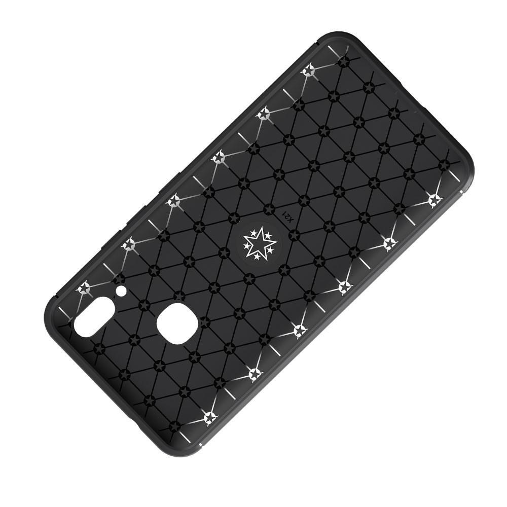 Силиконовый Чехол для Магнитного Держателя с Кольцом для Пальца Подставкой для Huawei nova 3 Синий