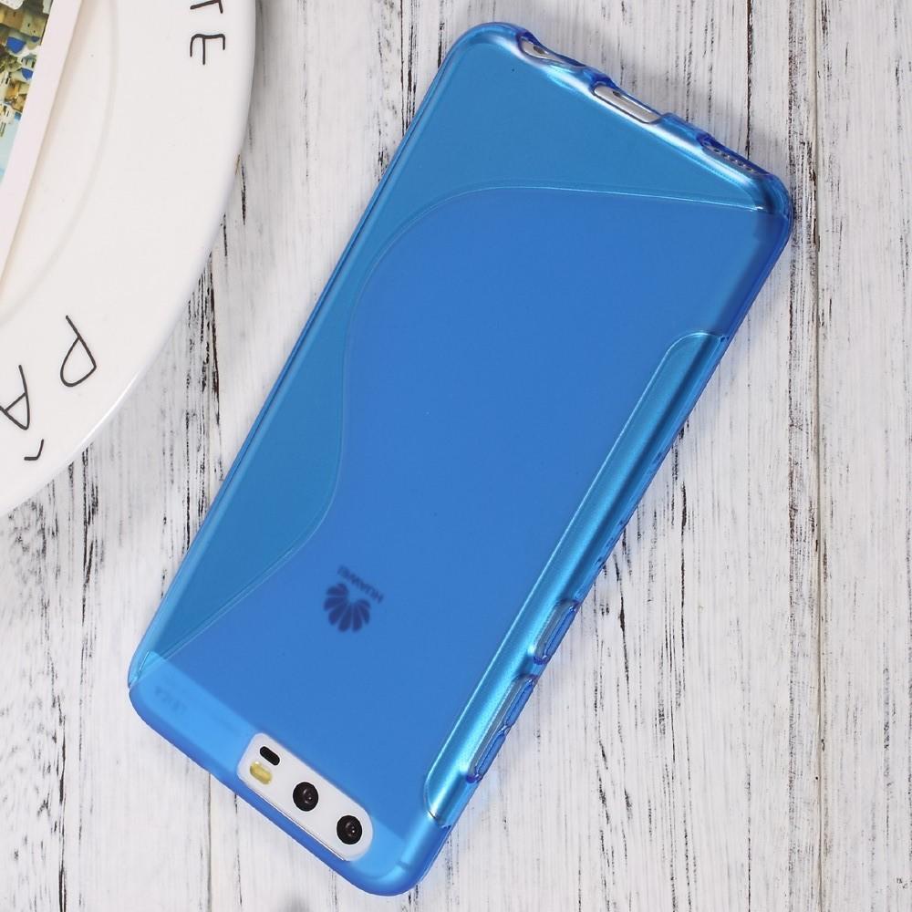 Силиконовый с Рисунком Гель Чехол для Huawei P10 Синий