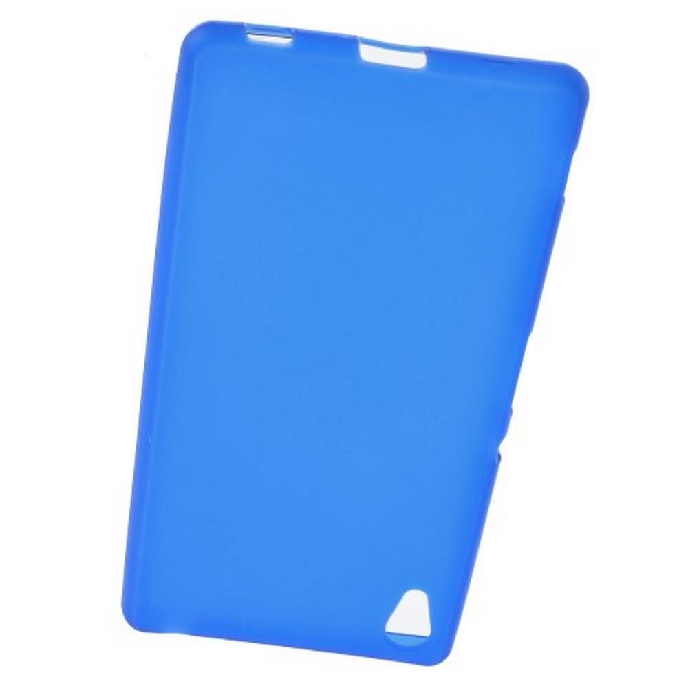 Силиконовый с Рисунком Гель Чехол для Sony Xperia Z3 Синий