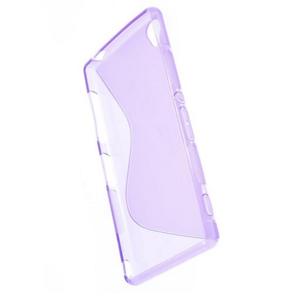 Силиконовый Защитный S-line Бампер для Sony Xperia Z3 Фиолетовый