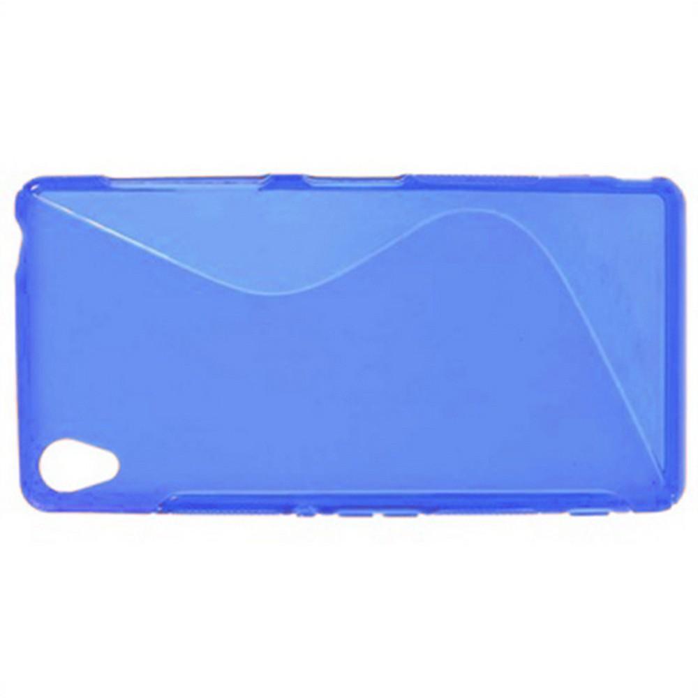 Силиконовый Защитный S-line Бампер для Sony Xperia Z3 Синий