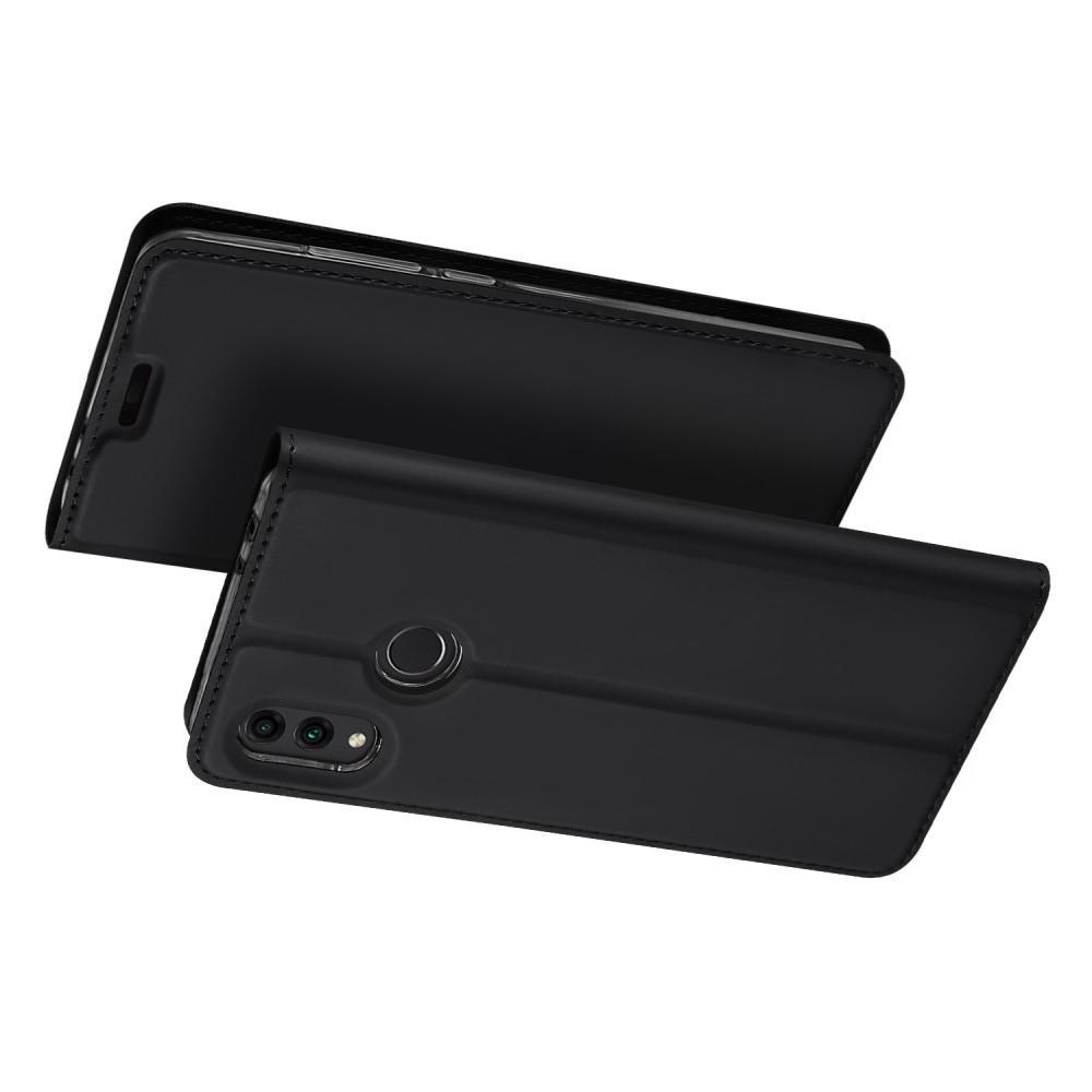 Тонкий Флип Чехол Книжка с Скрытым Магнитом и Отделением для Карты для Huawei Honor 8C Черный