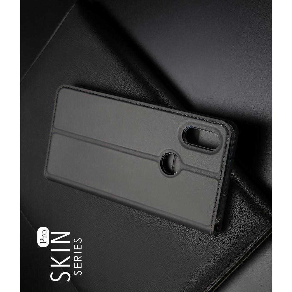 Тонкий Флип Чехол Книжка с Скрытым Магнитом и Отделением для Карты для Huawei Honor 8X Черный