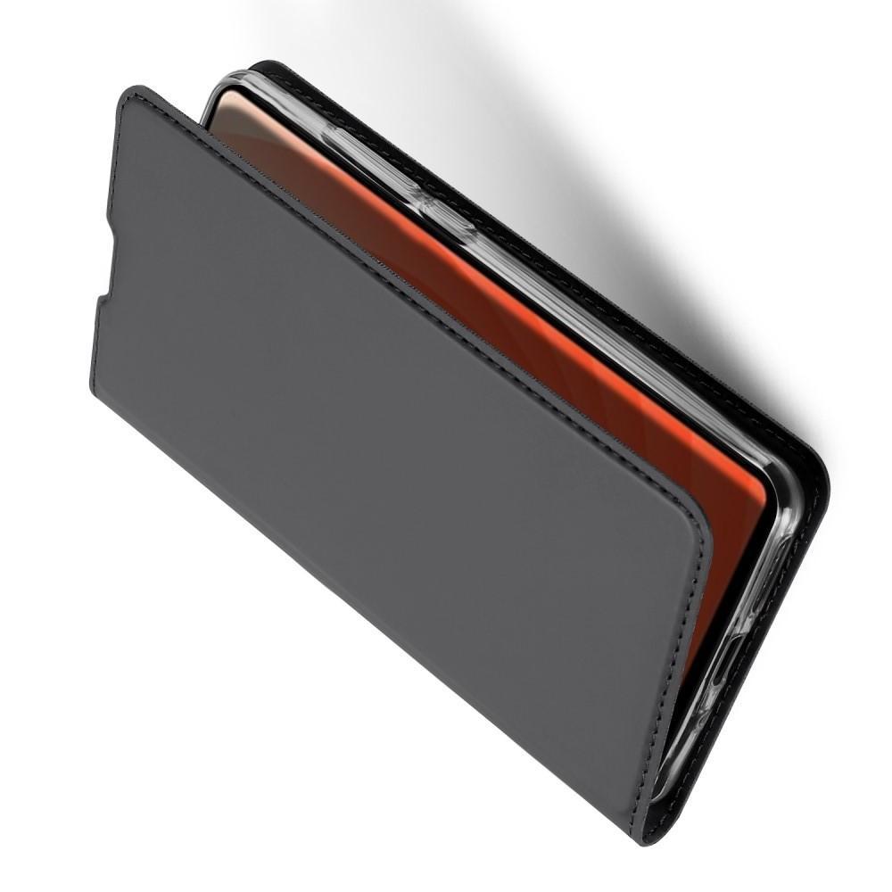 Тонкий Флип Чехол Книжка с Скрытым Магнитом и Отделением для Карты для Huawei Mate 20 Черный
