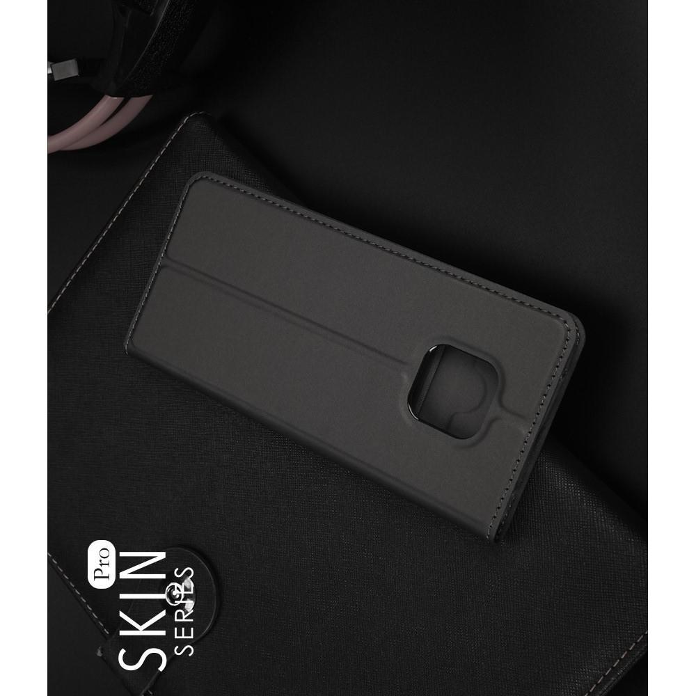 Тонкий Флип Чехол Книжка с Скрытым Магнитом и Отделением для Карты для Huawei Mate 20 Pro Черный