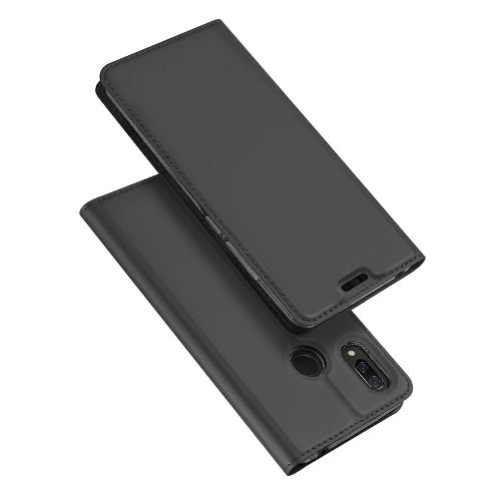 Тонкий Флип Чехол Книжка с Скрытым Магнитом и Отделением для Карты для Huawei nova 3 Черный