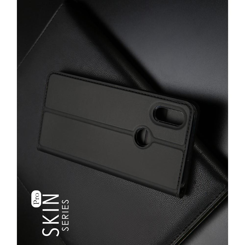 Тонкий Флип Чехол Книжка с Скрытым Магнитом и Отделением для Карты для Huawei P Smart 2019 Черный