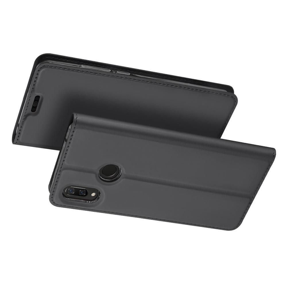 Тонкий Флип Чехол Книжка с Скрытым Магнитом и Отделением для Карты для Huawei P smart+ / Nova 3i Черный