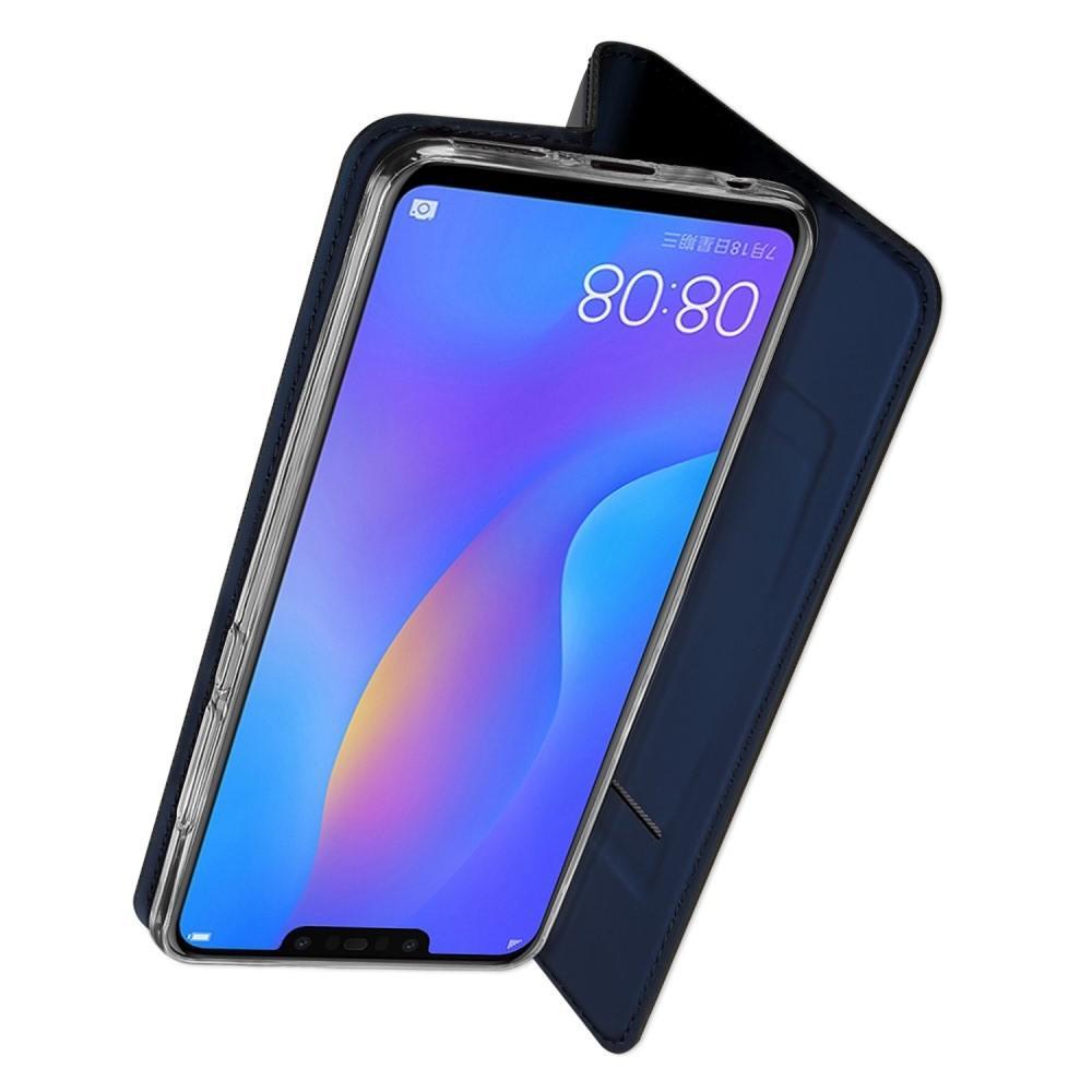 Тонкий Флип Чехол Книжка с Скрытым Магнитом и Отделением для Карты для Huawei P smart+ / Nova 3i Синий