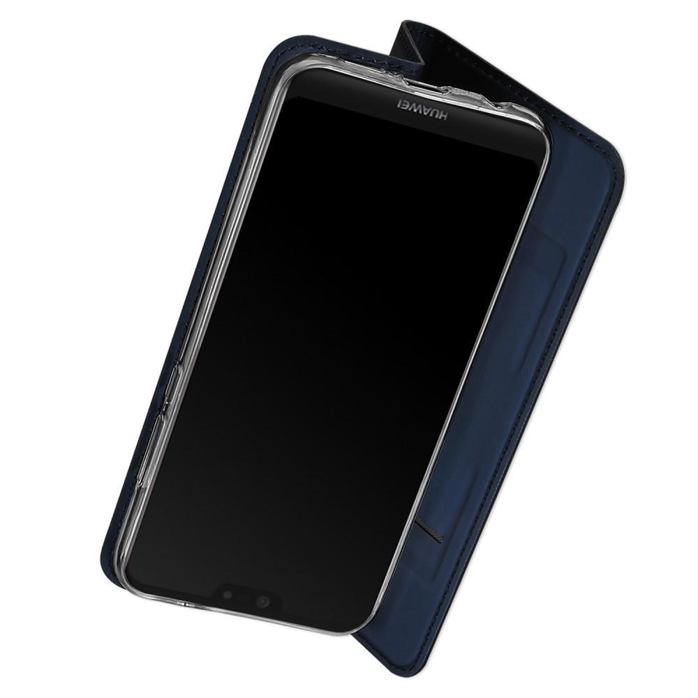 Тонкий Флип Чехол Книжка с Скрытым Магнитом и Отделением для Карты для Huawei P20 lite Синий