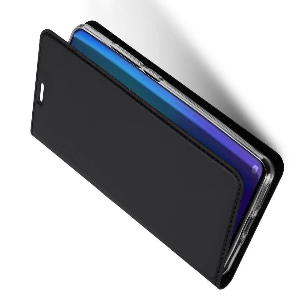 Тонкий Флип Чехол Книжка с Скрытым Магнитом и Отделением для Карты для Huawei P30 Pro Черный