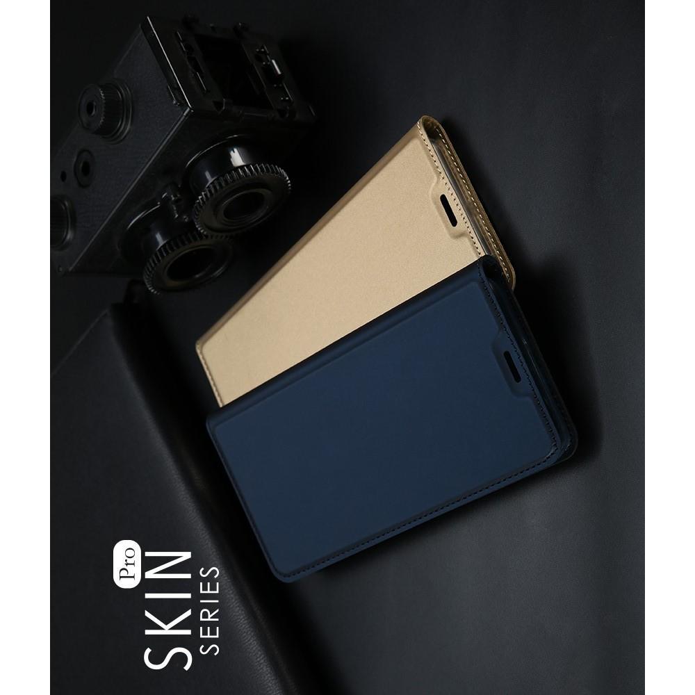 Тонкий Флип Чехол Книжка с Скрытым Магнитом и Отделением для Карты для Samsung Galaxy J6+ 2018 SM-J610F Синий