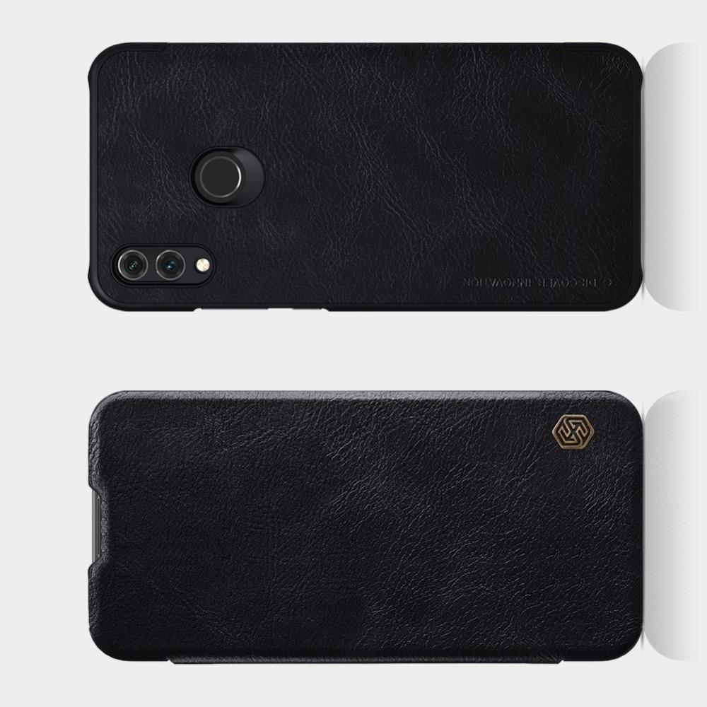 Тонкий Флип NILLKIN Qin Чехол Книжка для Huawei Honor 10 Lite Черный