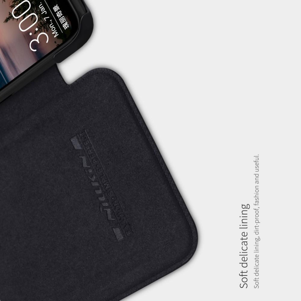 Тонкий Флип NILLKIN Qin Чехол Книжка для Huawei Honor View 20 (V20) Черный