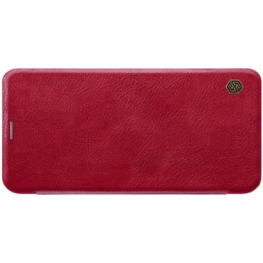 Тонкий Флип NILLKIN Qin Чехол Книжка для Huawei Mate 20 Lite Красный