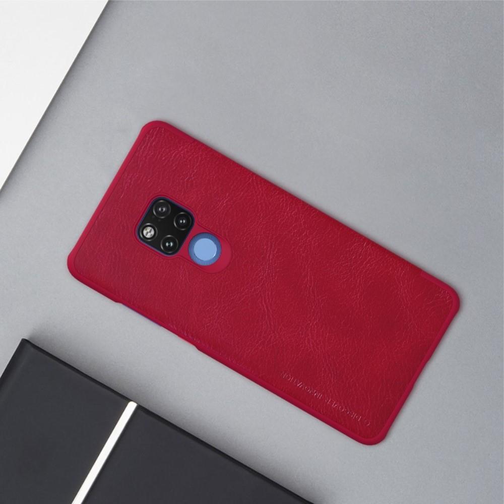 Тонкий Флип NILLKIN Qin Чехол Книжка для Huawei Mate 20 X Красный